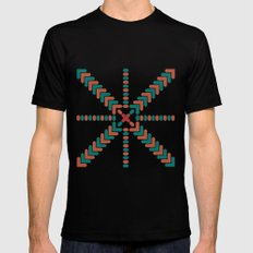 X Marks the Center MEDIUM Black Mens Fitted Tee