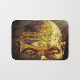 Gold Face Bath Mat