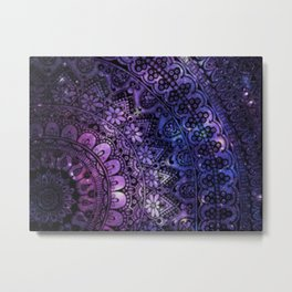 Galaxy Aztec Metal Print