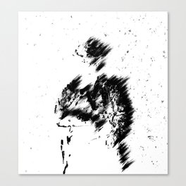 Abstract Soldier (Black) Canvas Print