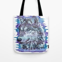 """The Packs Soul"" wolf watercolor artwork design. Tote Bag"