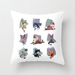 Mercats Throw Pillow