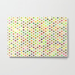 background multicolored star Metal Print