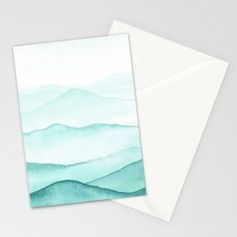 Mint Mountains Stationery Cards