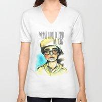 moonrise kingdom V-neck T-shirts featuring Moonrise Kingdom by Nastia Ginger