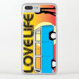 Love Life - Surf Van Clear iPhone Case