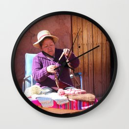 Pueblo de Machuca Wall Clock