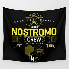 Deep Mining Crew / Nostromo / Alien / Science Fiction / Horror / Typography Wall Tapestry