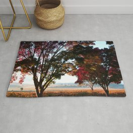 Australian Autumn Landscape Rug