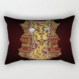 Don't mess with the llama! Rectangular Pillow