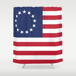 Betsy Ross flag of the USA - Authentic HQ version Shower Curtain