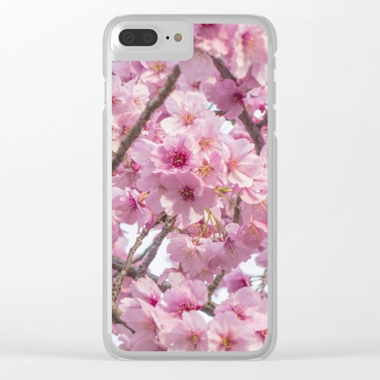 Cherry Blossoms in spring Clear iPhone Case