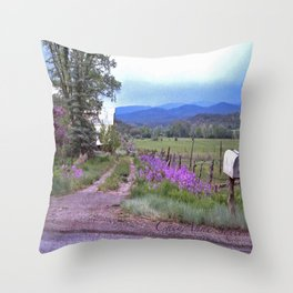 Dames Rocket Ranch by CheyAnne Sexton Throw Pillow