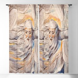 God Answers Job - by William Blake Blackout Curtain