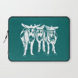 Seaside Donkeys in Turquoise Laptop Sleeve