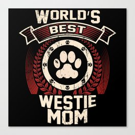 World's Best Westie Mom Canvas Print