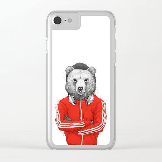 bear coach Clear iPhone Case