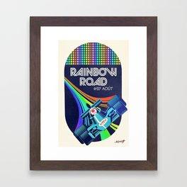 Rainbow Road Grand Prix Framed Art Print