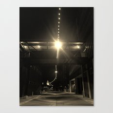 Alley Lights  Canvas Print