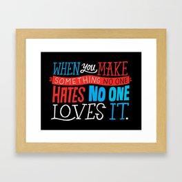 No One Loves It. Framed Art Print