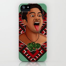 New Zealand Maori Haka Dancer iPhone Case