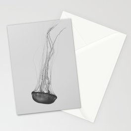 Black & White Jellyfish Stationery Cards