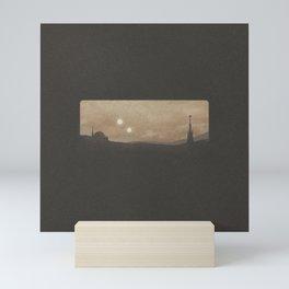"""Binary Suns - Tatooine Dark"" by Michael Grasseschi Mini Art Print"