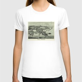 Vintage Pictorial Map of Woods Hole Falmouth MA (1887) T-shirt