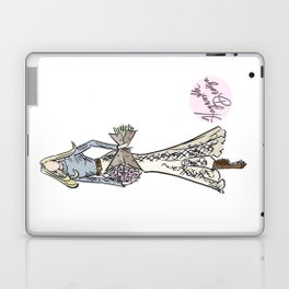 "Hayworth Design Fashion Illustration ""Fashionable Country Western Girl with Flowers"" Laptop & iPad Skin"