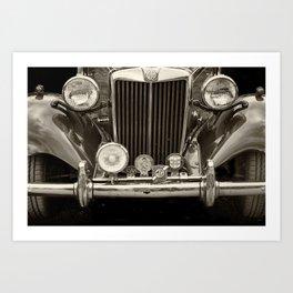 vintage MG TD Sports car Art Print
