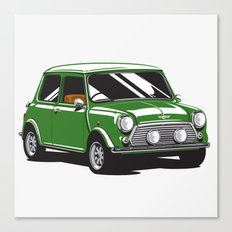 Mini Cooper Car - British Racing Green Canvas Print