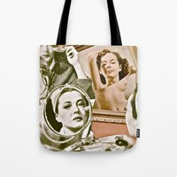 persona Tote Bags featuring Persona - collage by Deborah Stevenson Photography
