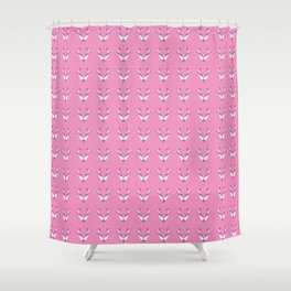 Fox pink pattern Shower Curtain