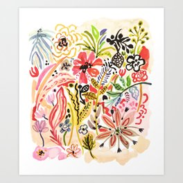 Karen Fields Flower Abstract Illustration Art Print