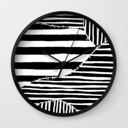 Stripes & Stitches Wall Clock