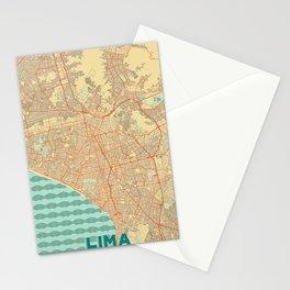 Lima Map Retro Stationery Cards