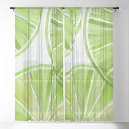 Fresh Lime ~ Summer Citrus Sheer Curtain