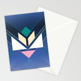 Tangram Lotus Two Stationery Cards