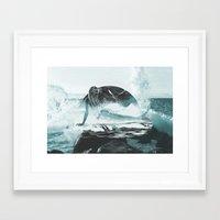 mermaid Framed Art Prints featuring Mermaid by fly fly away