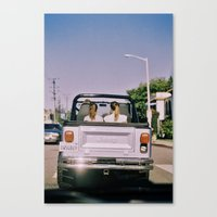 jeep Canvas Prints featuring Jeep by Warren Silveira + Stay Rustic