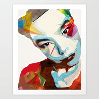 bjork Art Prints featuring Bjork by Zaneta Antosik