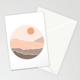Circle cut Landsape Stationery Cards