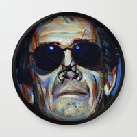 lou reed Wall Clocks featuring Lou Reed by Buffalo Bonker