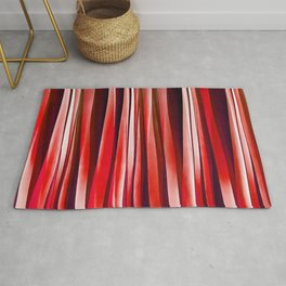 Impulsive Adventure Red Striped Abstract Pattern Rug