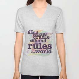 The Hand that Rocks the Cradle... Unisex V-Neck