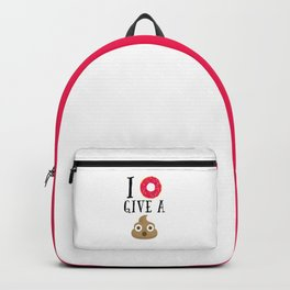 Donut Give A Sh*t Funny Quote Backpack