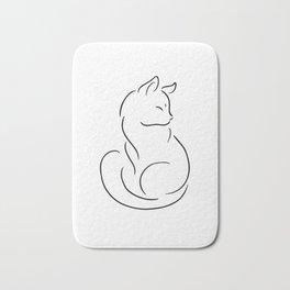 Cat silhouette Kitten shirt crazy catlady cat mom woman Bath Mat