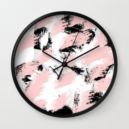 Abstract Pink/white Wall Clock