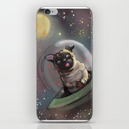 Pug in Space iPhone Skin
