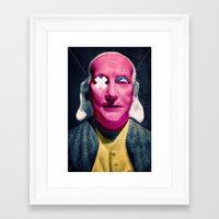 frank Framed Art Prints featuring Frank by Alec Goss